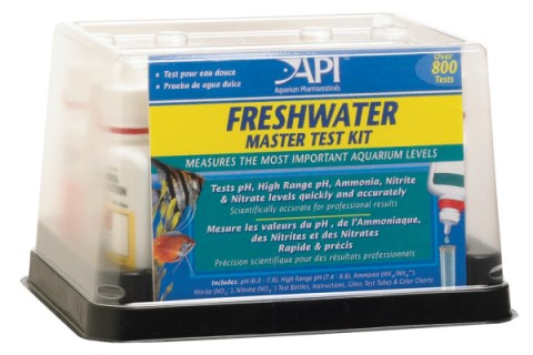 Prevent goldfish diseases with an aquarium testing kit.