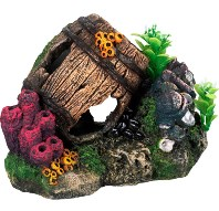 Barrel Ornament: Large Aquarium Decorations