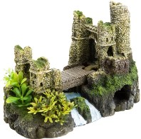 Castle with Drawbridge: Large Fish Tank Decorations