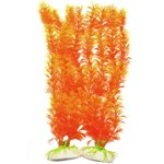 Vivid Orange Plants: Halloween fish tank decorations