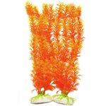 Vivid Orange Plants: Halloween fish tank decorations